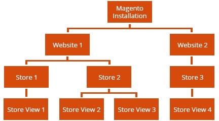magento multi stores